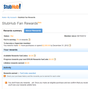 Enjoy a 10% StubHub promo code that applies to qualifying concert tickets in.