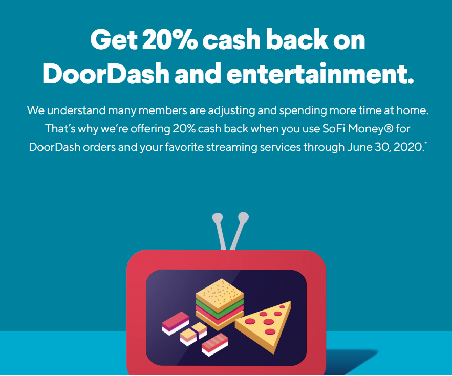 Get 20% Cashback on DoorDash, Netflix, Disney+ using SoFi ...